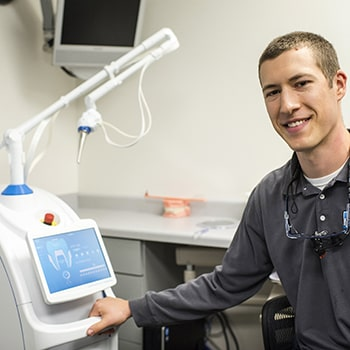 Dr. Peterson with the Solea Laser